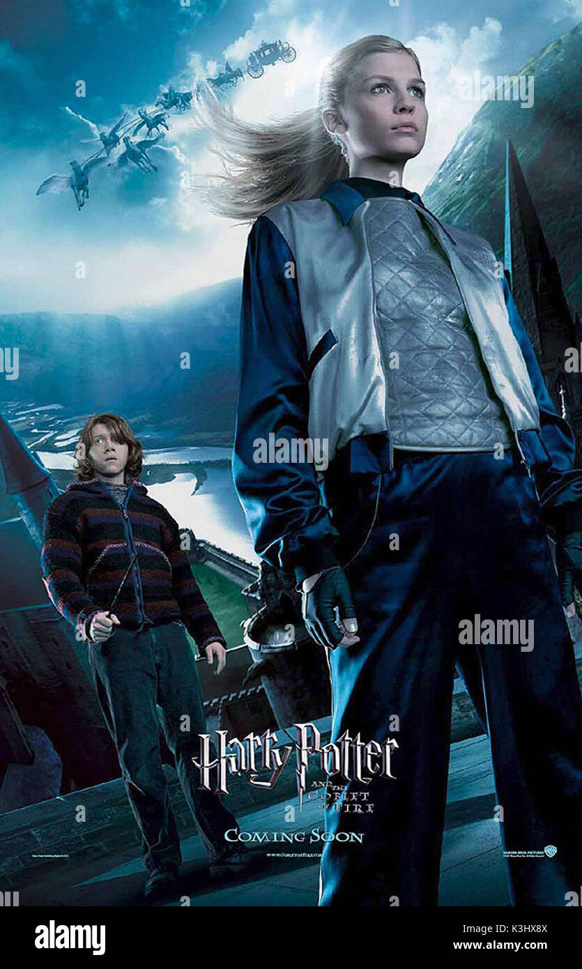 HARRY POTTER AND THE GOBLET OF FIRE RUPERT GRINT as Ron Weasley, CLEMENCE POESY as Fleur Delacour     Date: 2005 - Stock Image
