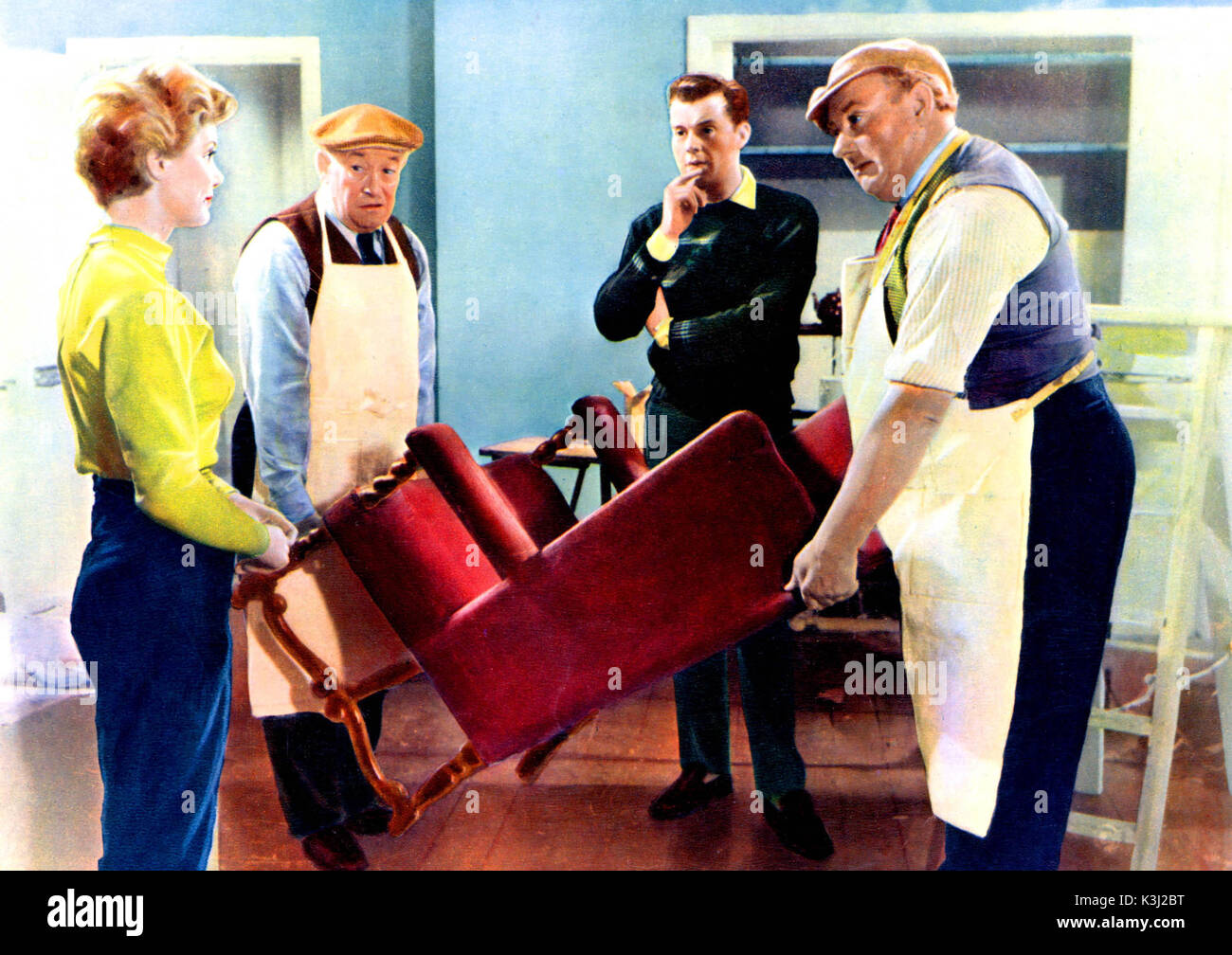 FOR BETTER, FOR WORSE from left - SUSAN STEPHEN, CHARLES VICTOR, DIRK BOGARDE, GEORGE WOODBRIDGE Stock Photo
