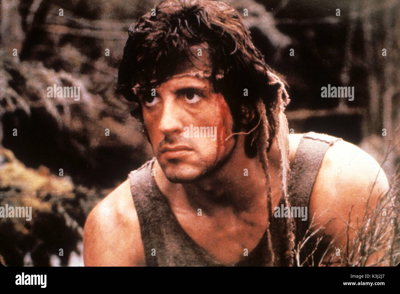 FIRST BLOOD aka RAMBO: FIRST BLOOD SYLVESTER STALLONE     Date: 1982 - Stock Image