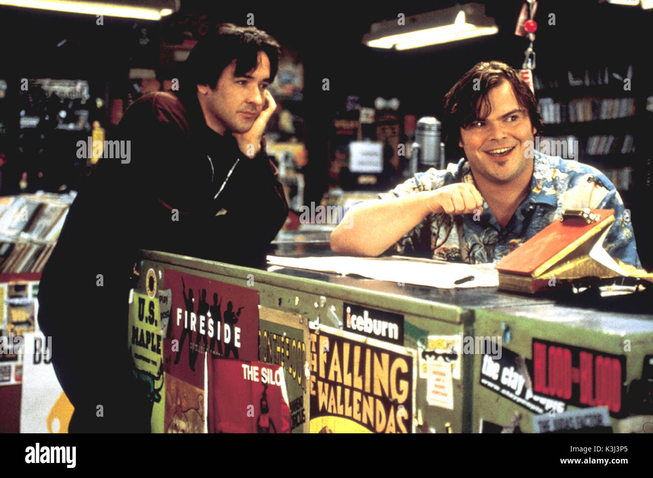 QUALITY: 3RD GENERATION-- HIGH FIDELITY-- FOR FURTHER INFORMATION CONTACT THE BUENA VISTA PRESS OFFICE ON TEL: 0208 222 16532828/1221 FAX: 0208 222 2494 HIGH FIDELITY JOHN CUSACK, JACK BLACK     Date: 2000 - Stock Image