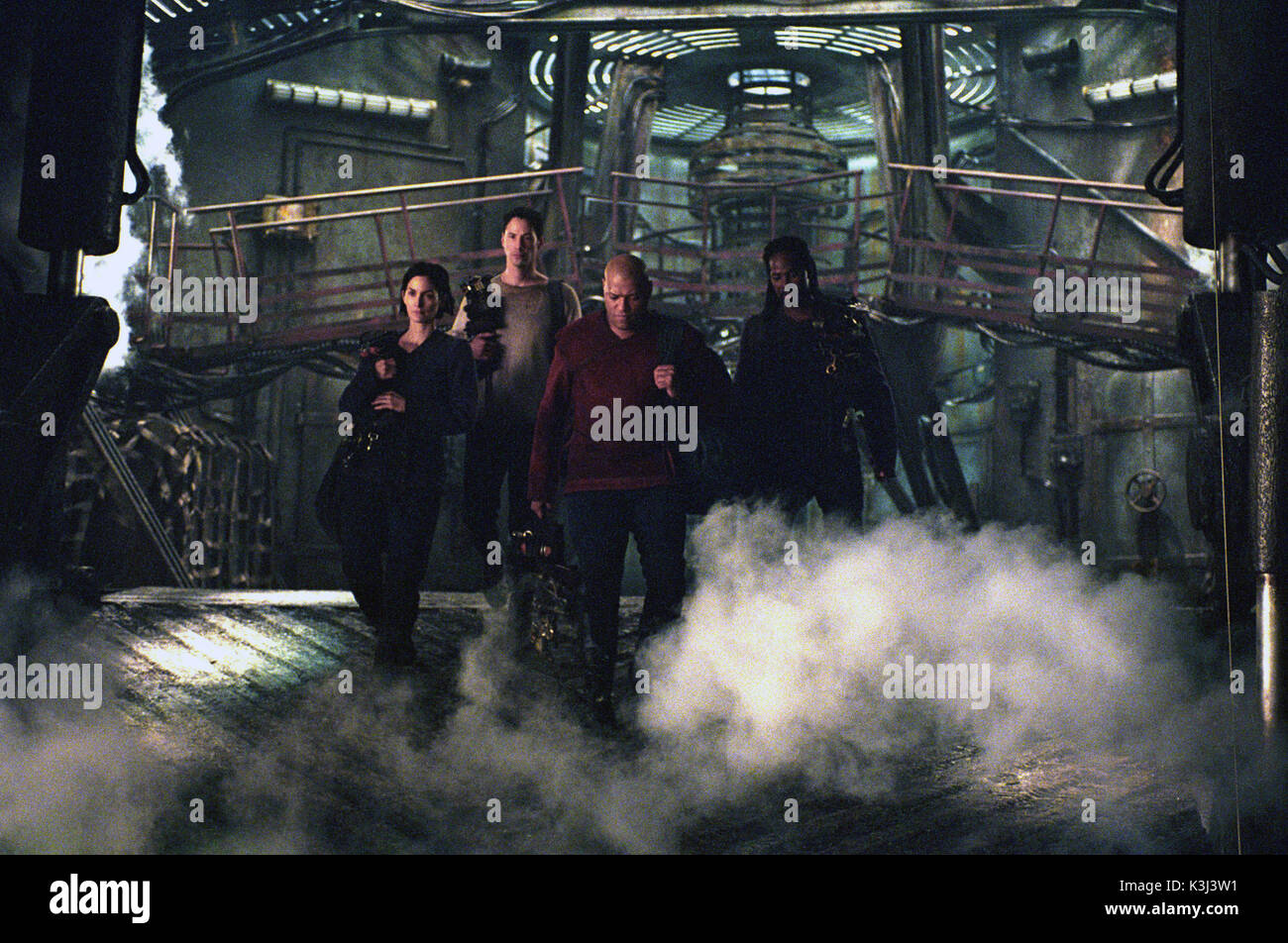 Matrix Movie Film Still Stock Photos Neo Trinity My Amplifier The Reloaded Carrie Anne Moss As Keanu Reeves Laurence