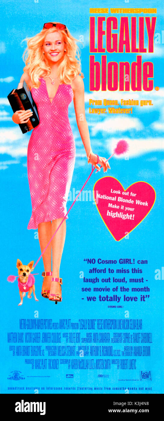 LEGALLY BLONDE      Date: 2001 - Stock Image