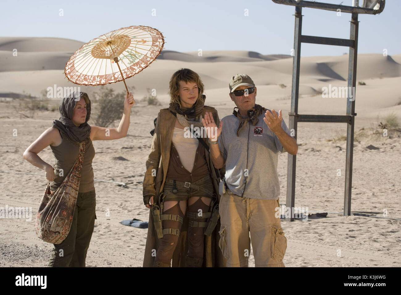 Resident Evil Extinction Director Russell Mulcahy With Milla