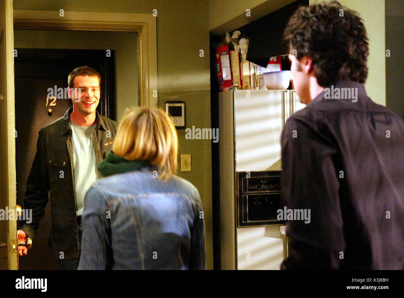 "100030_271 -- SCRUBS - The episode entitled, ""His Story II,"" airs on Tuesday, April 6 (9:30-10:00 p.m., ET), on NBC.   (TOUCHSTONE/MITCHELL HADDAD) SCOTT FOLEY, SARAH CHALKE, ZACH BRAFF SCRUBS [US TV SERIES 2001 -  ]  Series#3/Episode#18/""His Story II""  [L-R] SCOTT FOLEY as Sean,  SARAH CHALKE as Dr. Elliot Reid,  ZACH BRAFF as Dr. John 'J.D.' Dorian       100030_271 -- SCRUBS - The episode entitled, ""His Story II,"" airs on Tuesday, April 6 (9:30-10:00 p.m., ET), on NBC.   (TOUCHSTONE/MITCHELL HADDAD) SCOTT FOLEY, SARAH CHALKE, ZACH BRAFF - Stock Image"