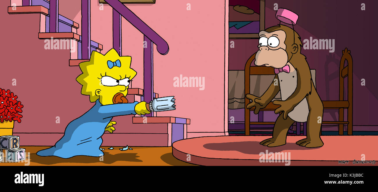 The Simpsons Movie Nancy Cartwright Voices Maggie Simpson The Stock Photo Alamy
