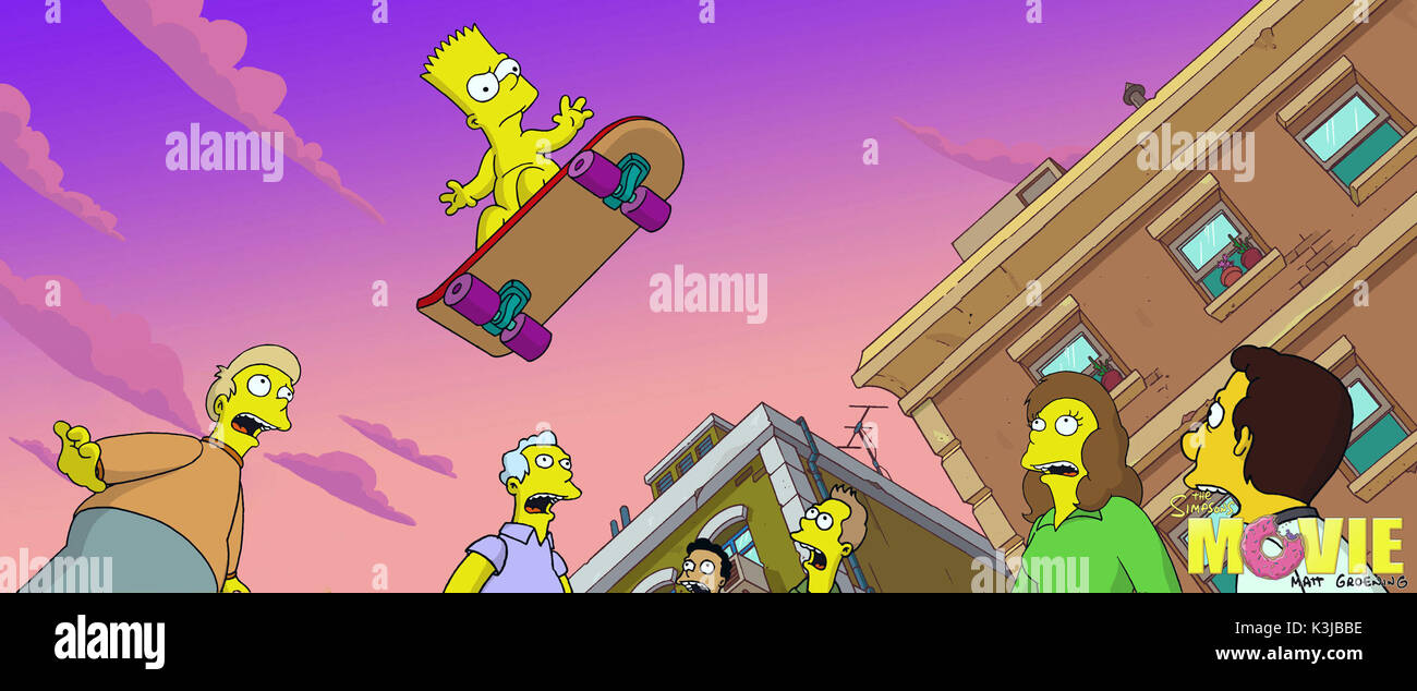 The Simpsons Movie Nancy Cartwright Voices Bart Simpson The Simpsons Stock Photo Alamy
