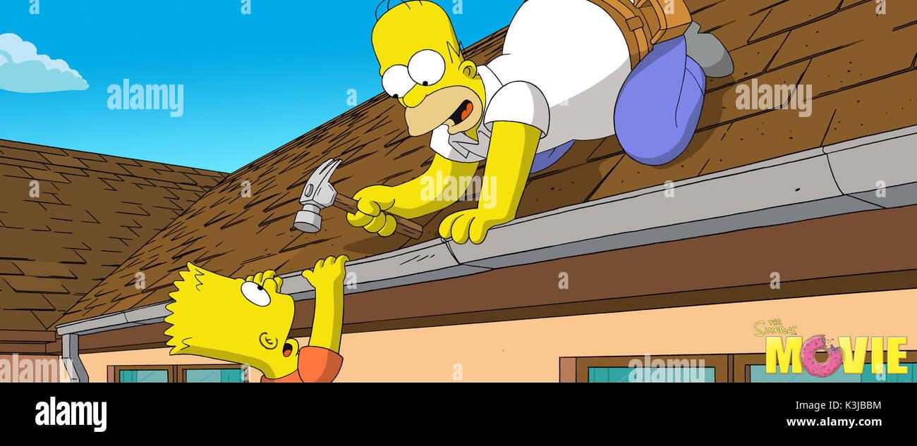 The Simpsons Movie Yeardley Smith Voices Lisa Simpson Dan Stock Photo Alamy