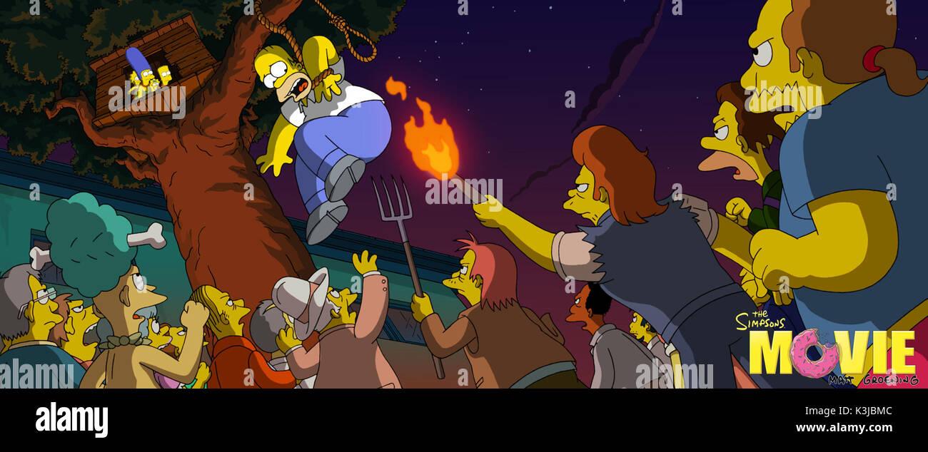 The Simpsons Movie Dan Castellaneta Voices Homer Simpson The Simpsons Stock Photo Alamy