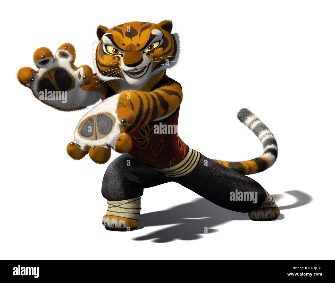Kung Fu Panda Angelina Jolie Voices Tigress Kung Fu Panda Date Stock