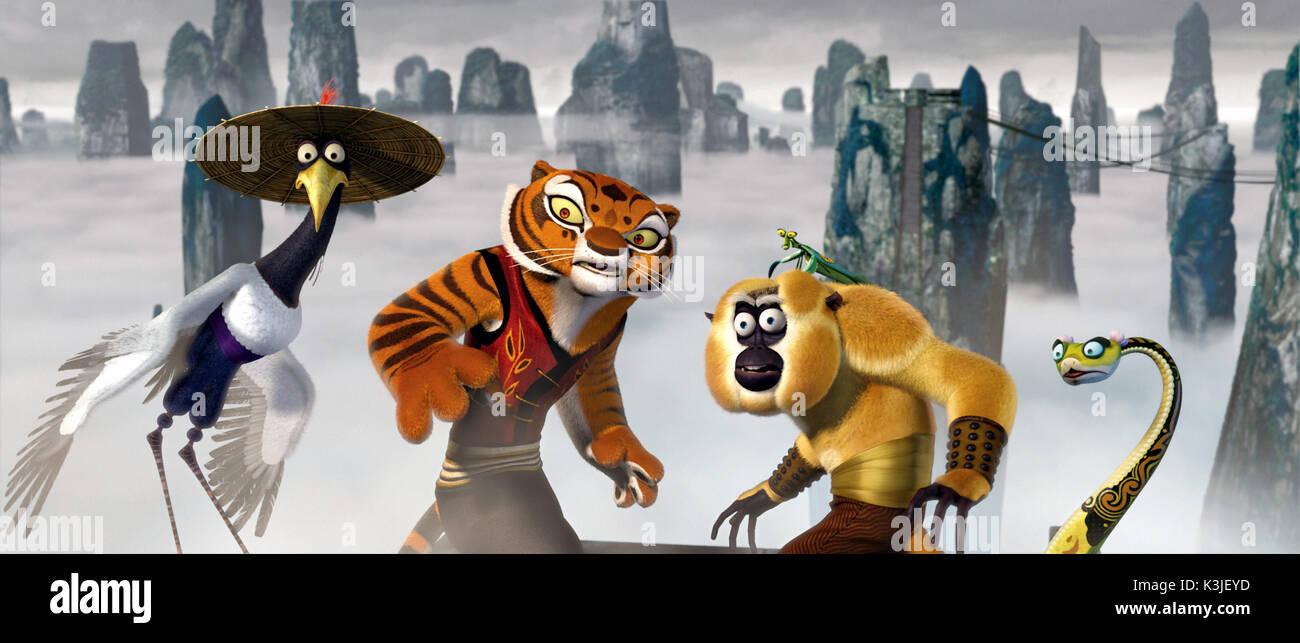 Kung Fu Panda David Cross Voices Crane Angelina Jolie Voices Stock