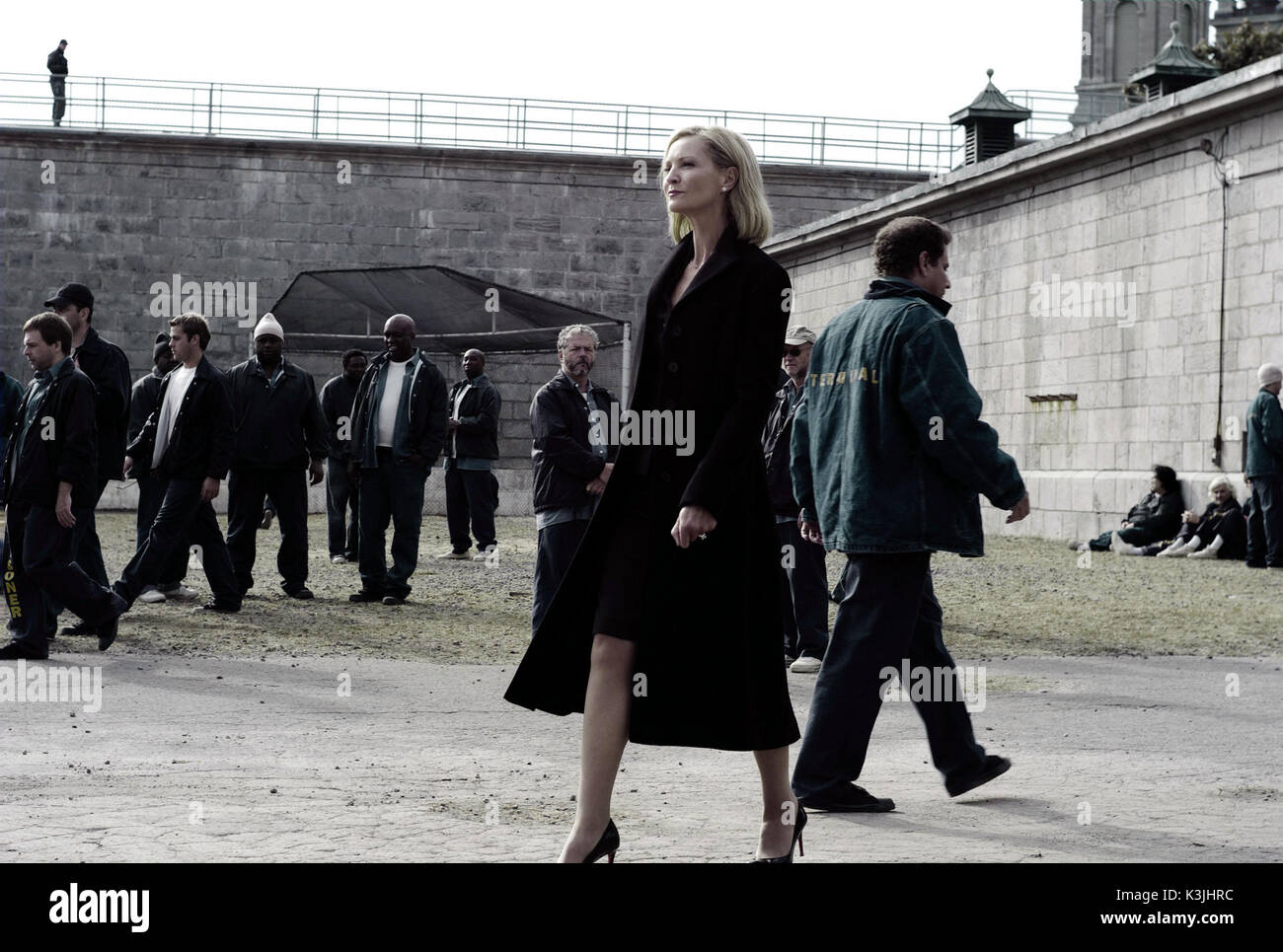 DEATH RACE JOAN ALLEN as Warden Hennessey, walks the yard in an action-thriller set in the near future. DEATH RACE     Date: 2008 - Stock Image