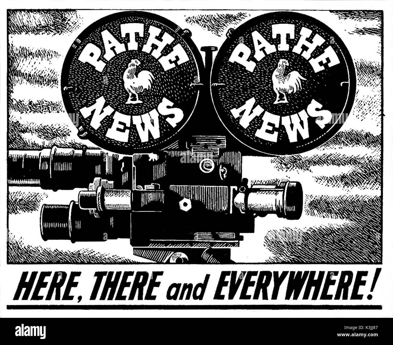 PATHE NEWS ADVERTISEMENT Stock Photo - Alamy