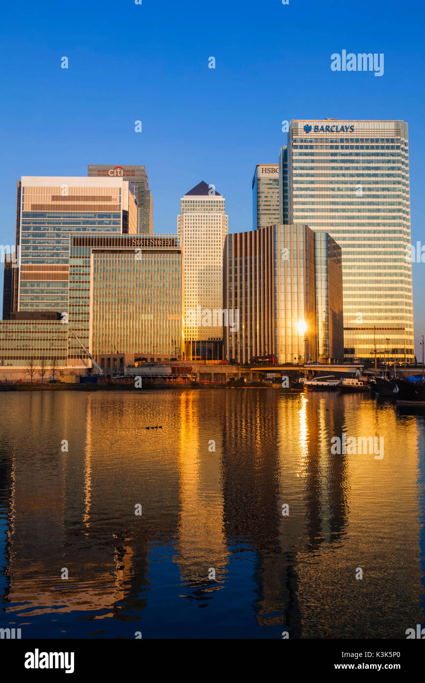 England, London, Docklands, Canary Wharf - Stock Image
