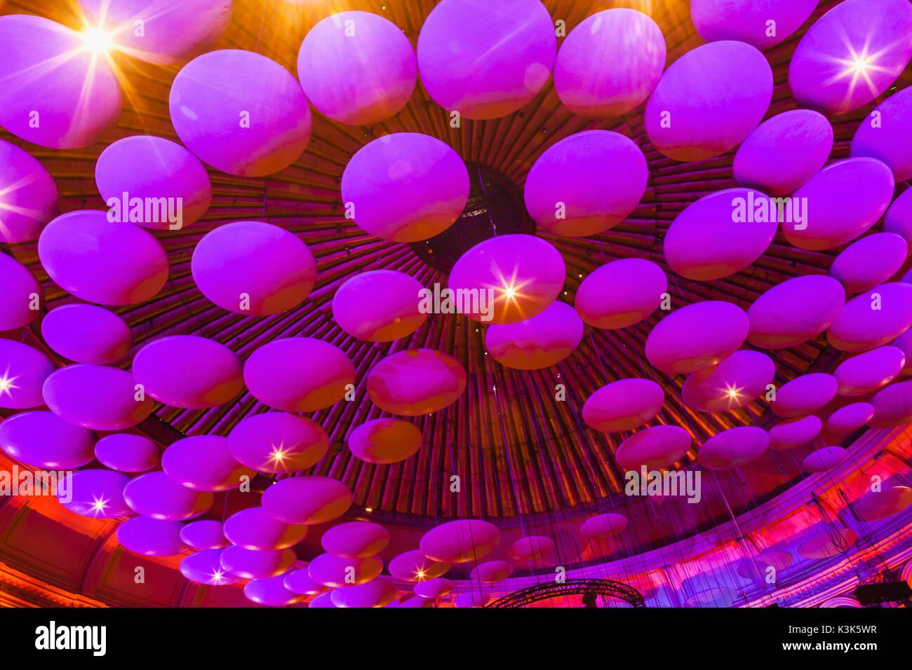 England, London, Royal Albert Hall, Glass Fibre Acoustics Reflectors - Stock Image