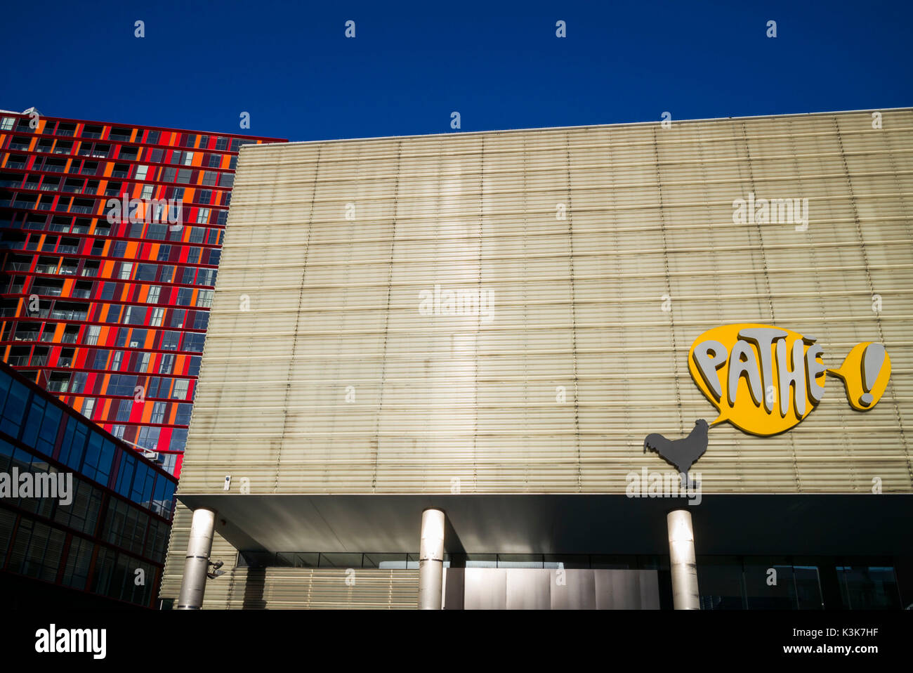 Netherlands, Rotterdam, Schouwburgplein, Theater Square, Pathe Cinema - Stock Image