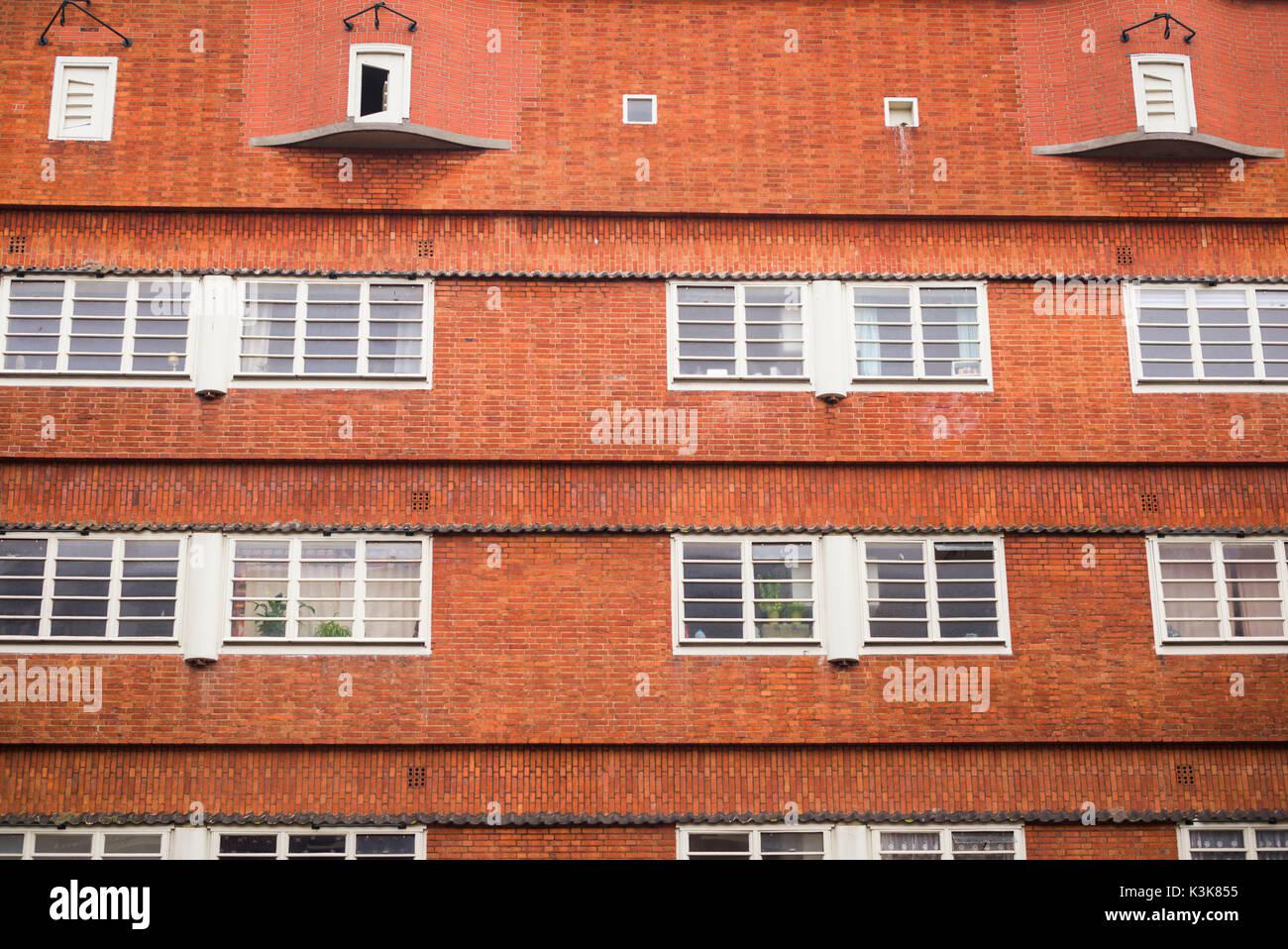 Netherlands, Amsterdam, Museum Het Schip, 1921 housing project designed by Michel de Klerk for railway employees Stock Photo