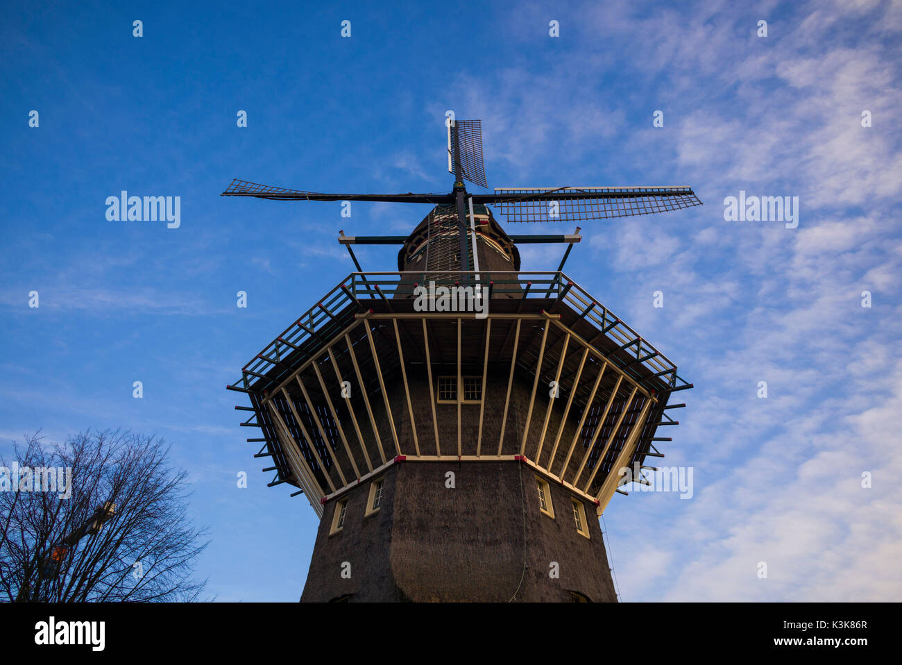 Netherlands, Amsterdam, Eastern Docklands, De Gooyer Windmill - Stock Image