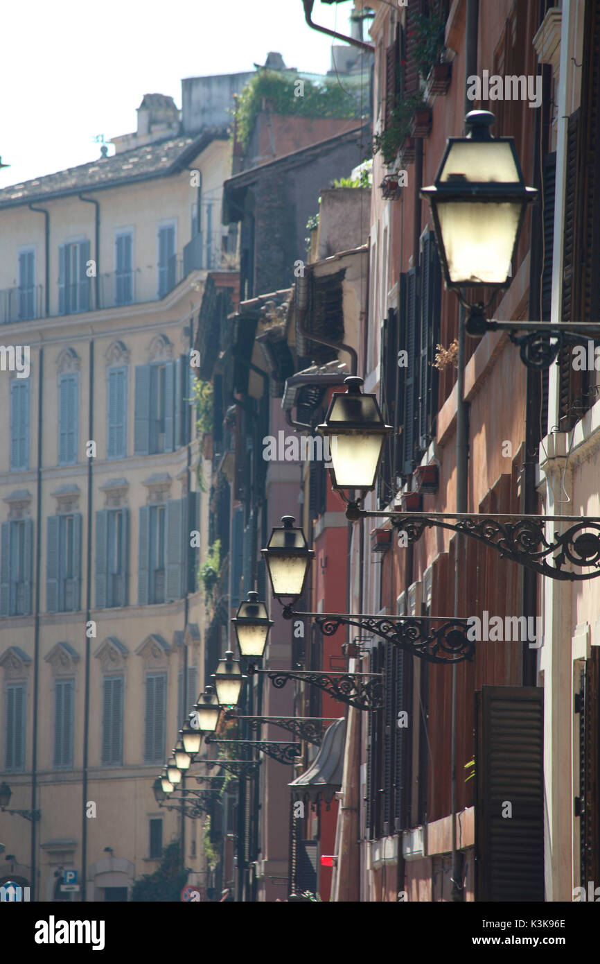 Italy Rome Via del Banco di Santo Spirito - Stock Image
