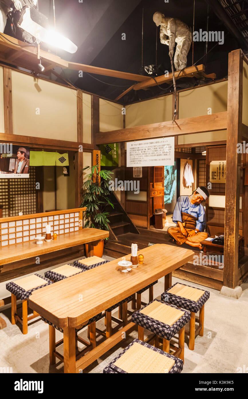 Japan, Hoshu, Tokyo, Katsushika Shibamata, Tora-San Museum, Restaurant Set from The Tora-San Movie Series - Stock Image