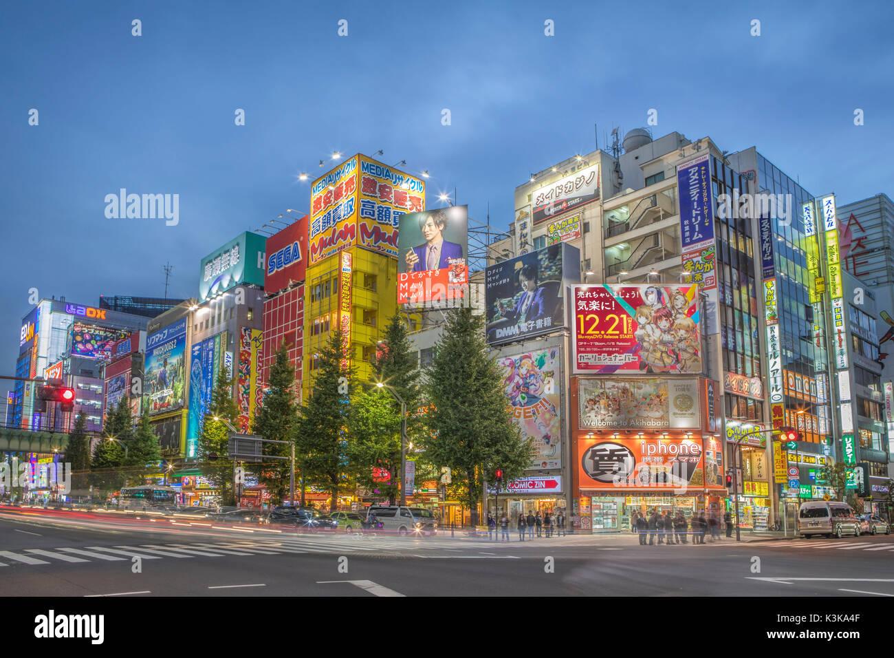 Japan, Tokyo City, Akihabara District, Chuo Avenue - Stock Image