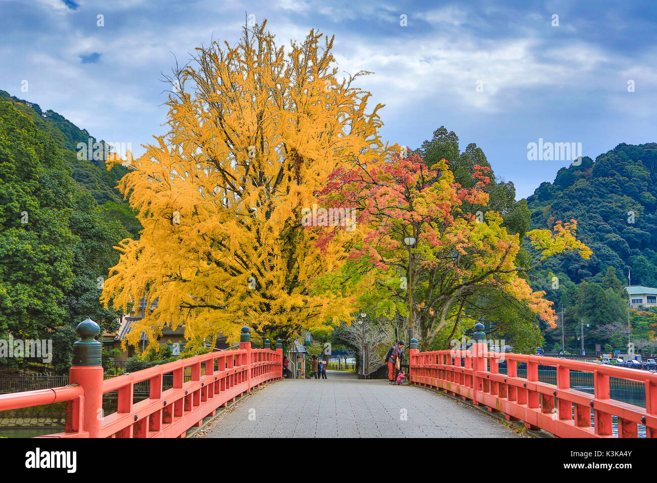Japan, Kansai, Kyoto, Uji City,bridge - Stock Image