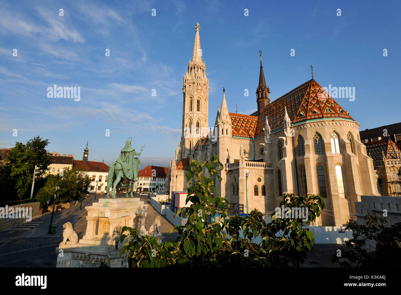 Hungary, Budapest, Buda district, Saint-Mathias church, Castle Hill listed as World Heritage by UNESCO - Stock Image