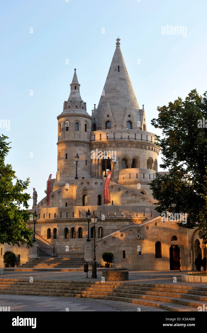 Hungary, Budapest, Fisherman's Bastion - end of 19th century located in the historical Buda Castle district listed Stock Photo