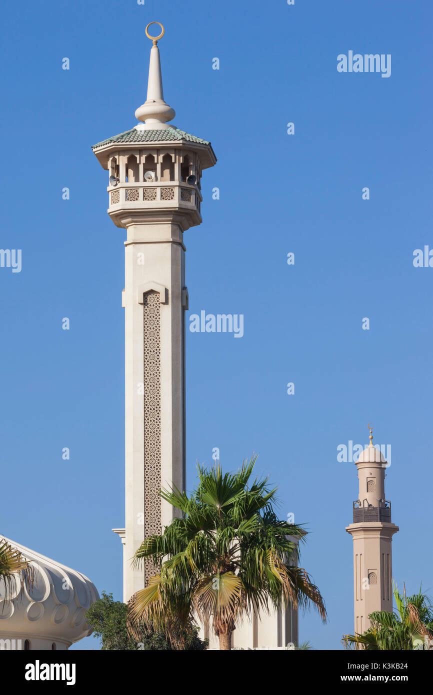 UAE, Dubai, Bur Dubai, mosque at The Rulers Court Stock Photo