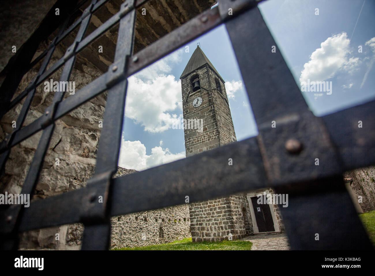 Hrastovlje church of St. Trinity, Slovenia. - Stock Image
