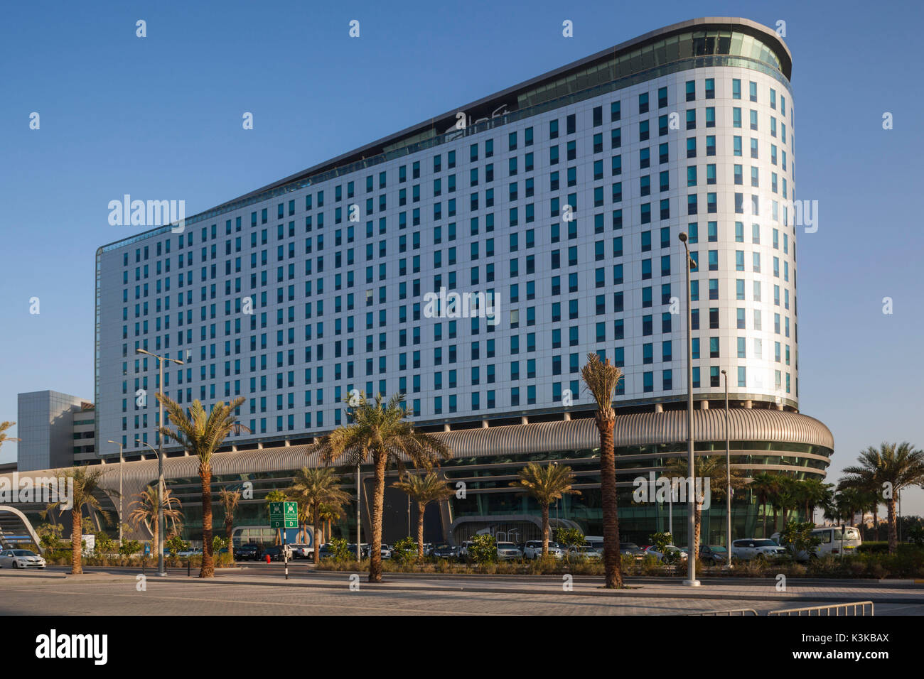 UAE, Abu Dhabi, Al Safarat Embassy Area, Aloft Hotel, exterior - Stock Image