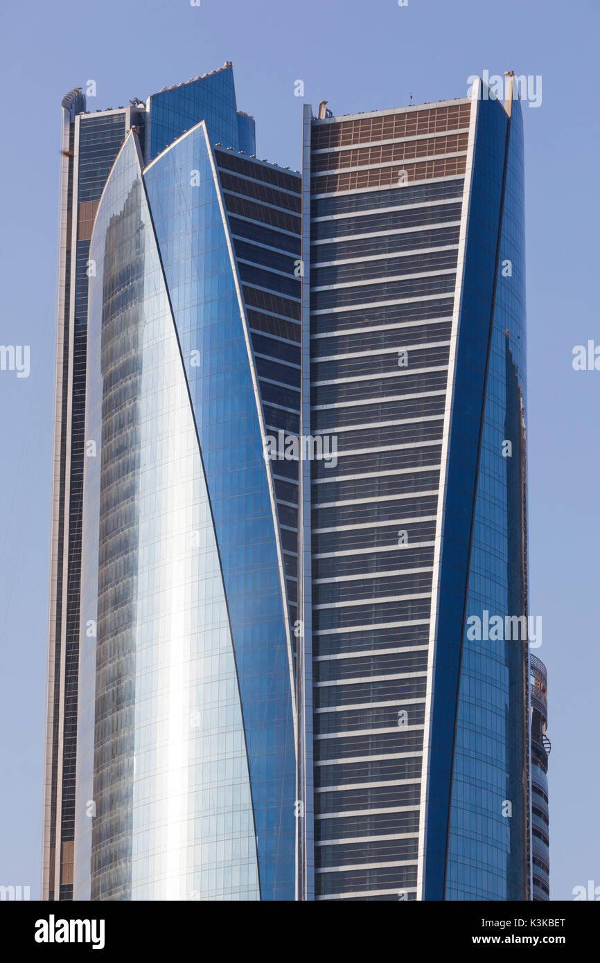 UAE, Abu Dhabi, Etihad Towers - Stock Image