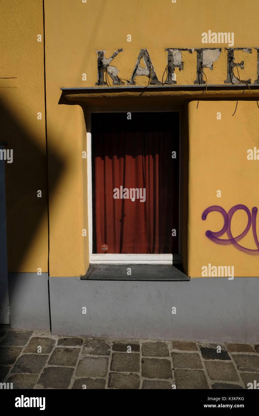 Europe, Austria, Vienna, capital, Letters, Kaffee, old, broken, - Stock Image