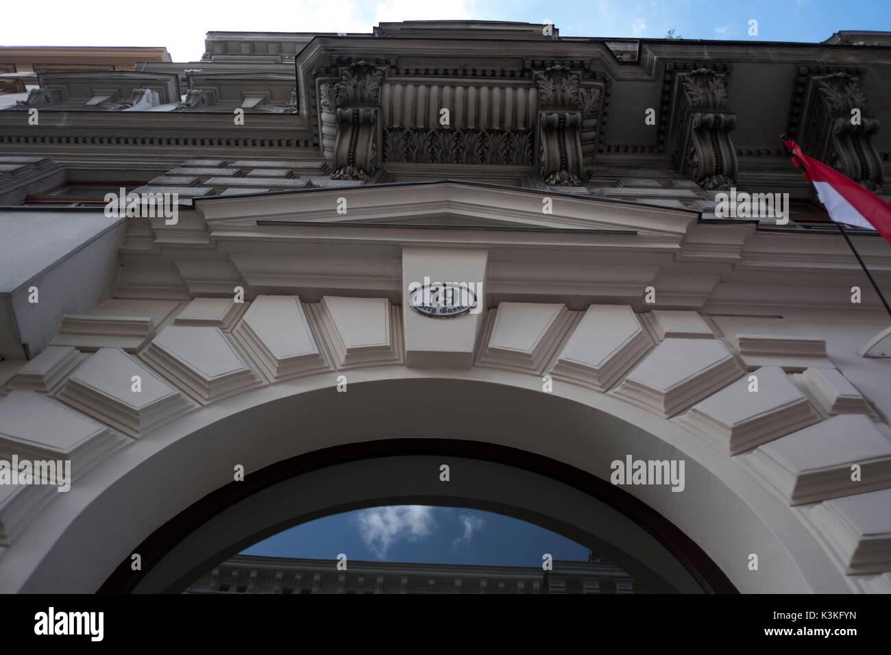 Europe, Austria, Vienna, capital, Sigmund Freud Museum, facade, detail - Stock Image