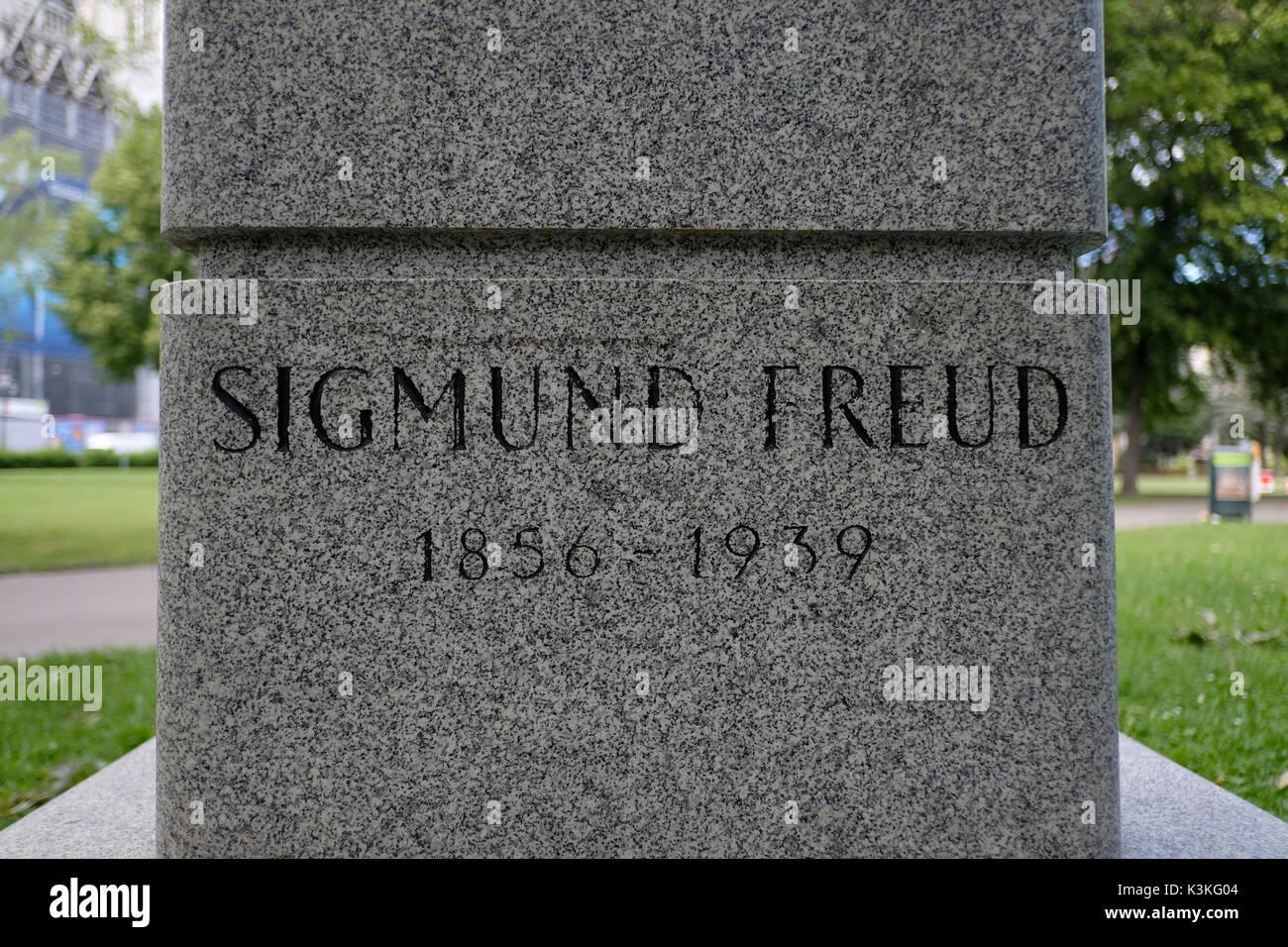 Europe, Austria, Vienna, capital, Sigmund Freud menproal, detail - Stock Image
