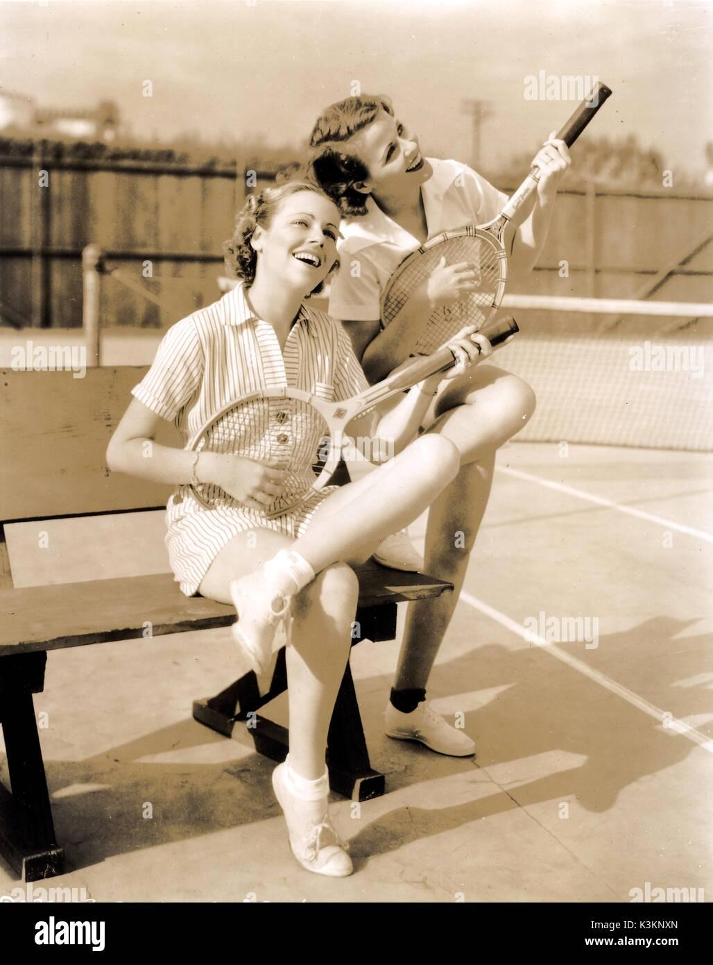 Left, GLORIA SHEA American actress , and BARBARA KENT Canadian-born Hollywood actress b1906, in a publicity shot 1930s - Stock Image