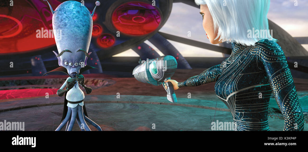 MONSTERS VS ALIENS RAINN WILSON voices Gallaxhar, REESE WITHERSPOON voices Ginormica        Date: 2009 - Stock Image