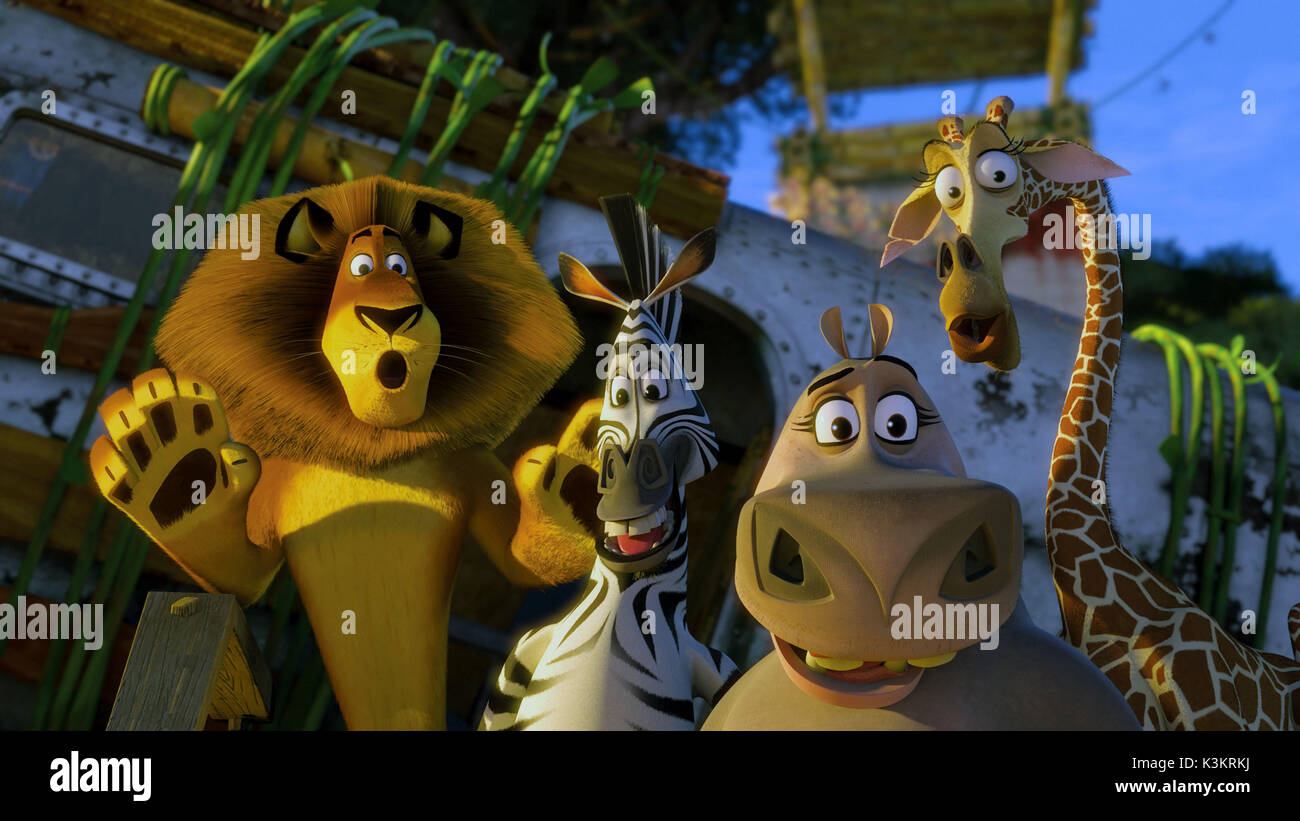 Madagascar Escape 2 Africa Ben Stiller Voices Alex Lion Chris Stock Photo Alamy