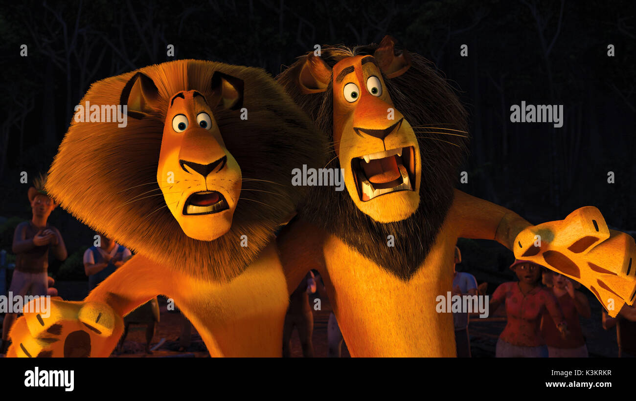 Madagascar Escape 2 Africa Ben Stiller Voices Alex Lion Bernie Stock Photo Alamy