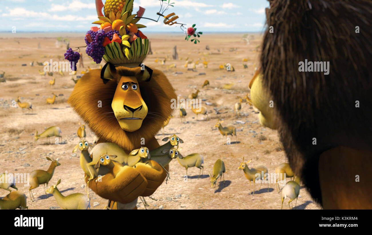 Madagascar Escape 2 Africa Ben Stiller Voices Alex Lion Stock Photo Alamy
