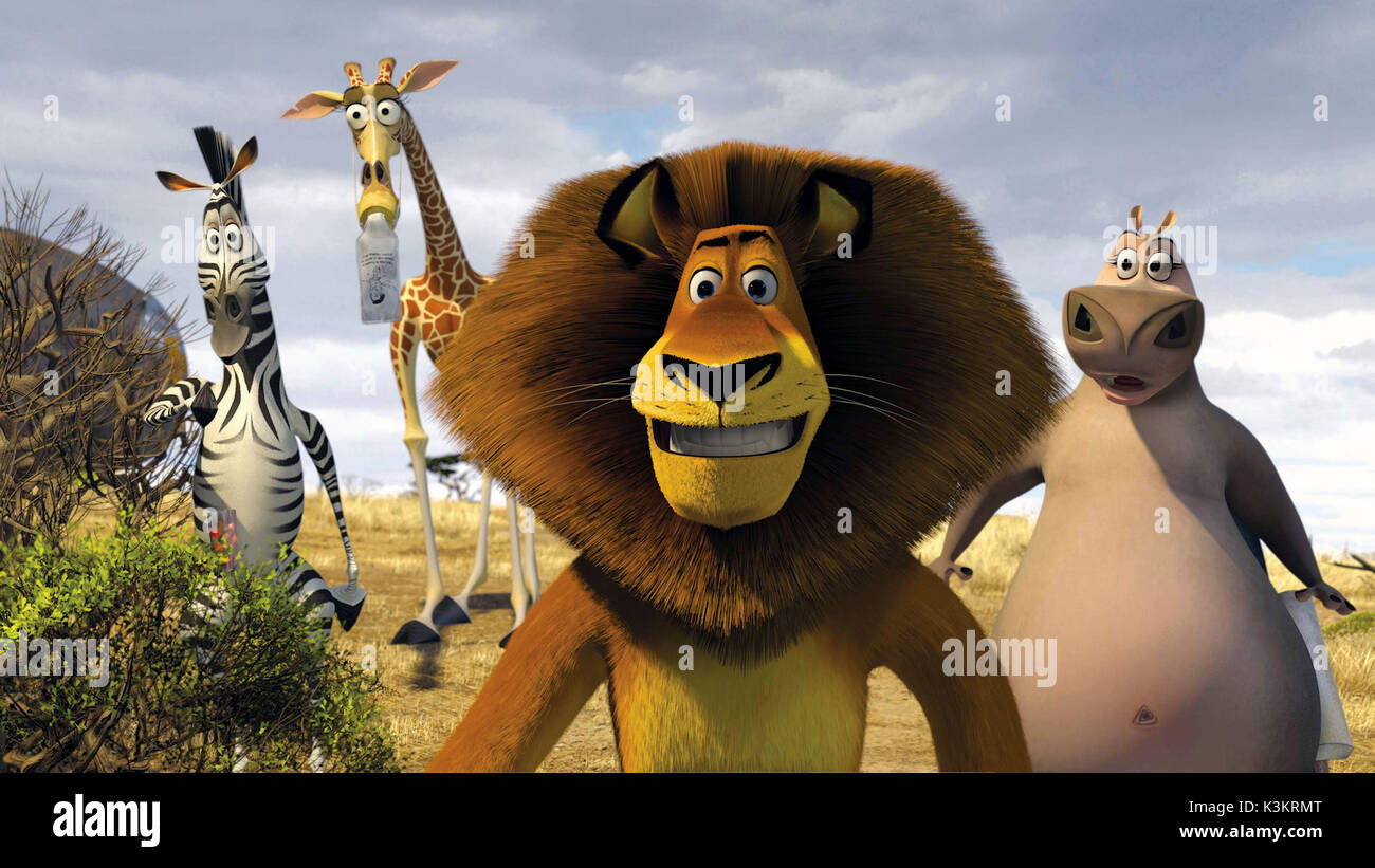 Madagascar Escape 2 Africa Chris Rock Voices Marty Zebra David Stock Photo Alamy