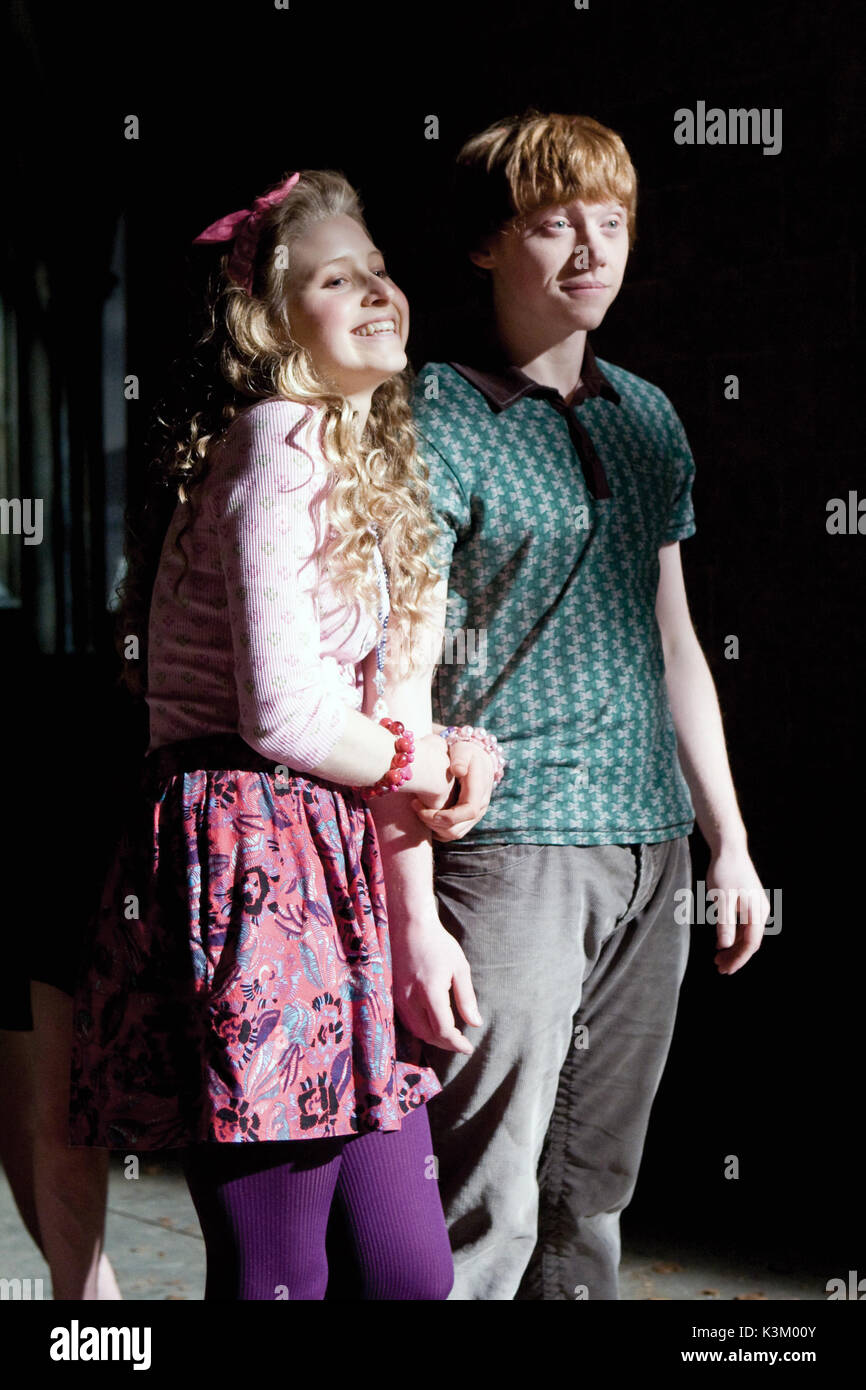 HARRY POTTER AND THE HALF BLOOD PRINCE JESSIE CAVE as Lavender Brown, RUPERT GRINT as Ron Weasley        Date: 2009 - Stock Image