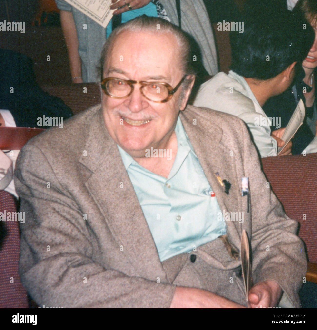 FORREST ACKERMAN  Collector and historian of science-fiction and horror films and publisher of Famous Monsters of Filmland magazine - Stock Image