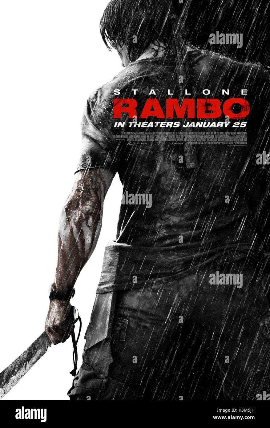 RAMBO SYLVESTER STALLONE RAMBO     Date: 2008 - Stock Image