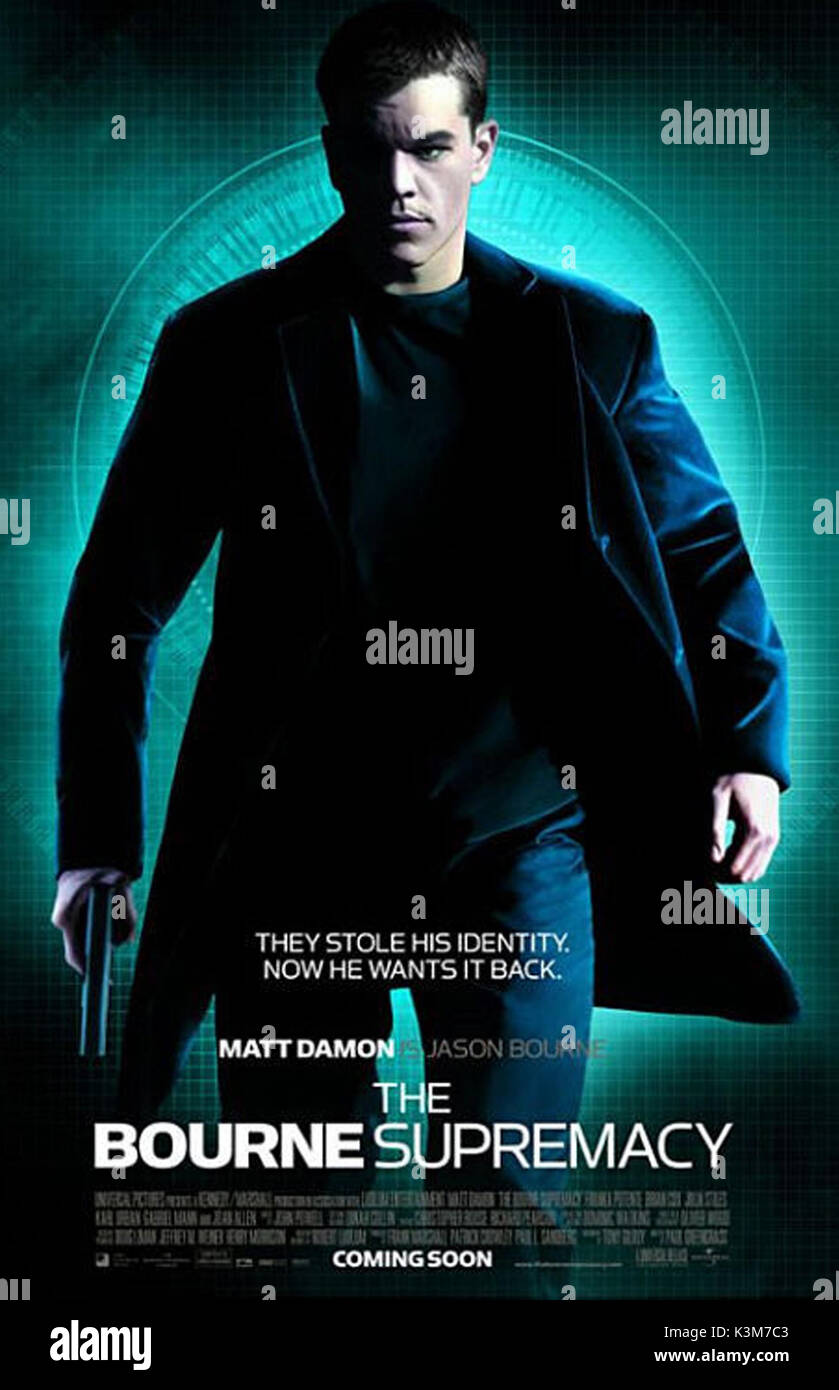 832250122 THE BOURNE SUPREMACY MATT DAMON as Jason Bourne THE BOURNE SUPREMACY ...