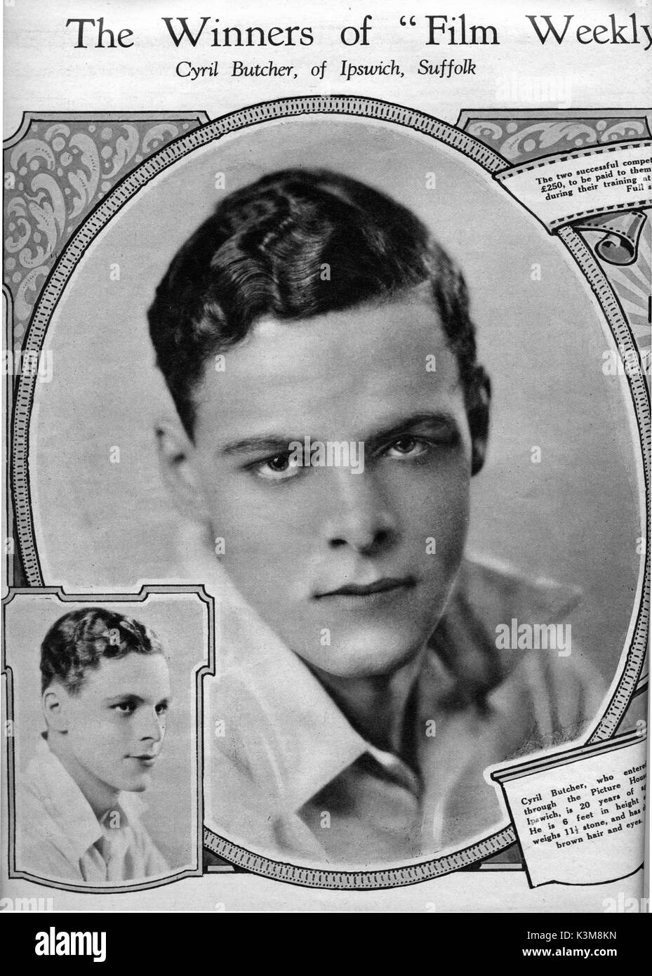 CYRIL BUTCHER THE FILM WEEKLY, Saturday, January 18th, 1930     Date: - Stock Image