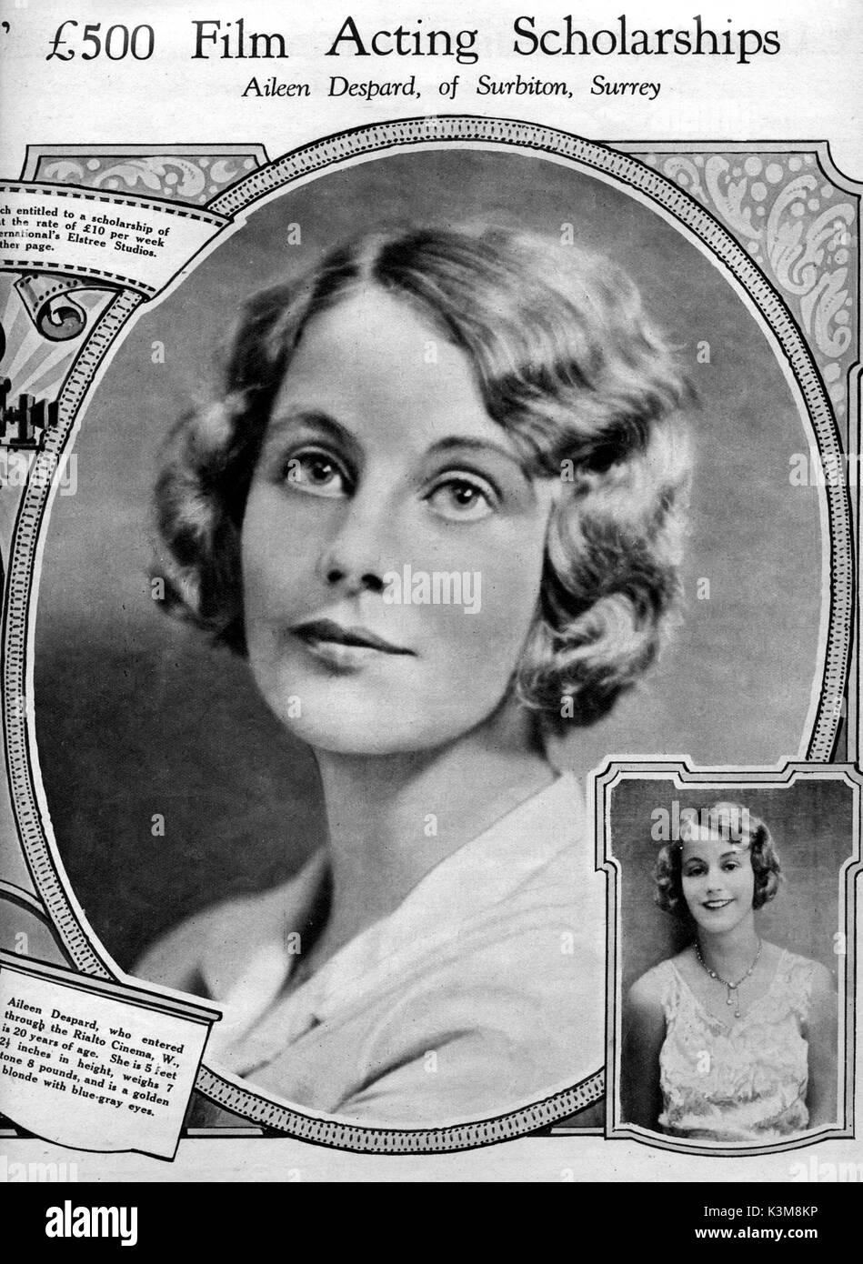 AILEEN DESPARD THE FILM WEEKLY, Saturday, January 18th, 1930     Date: - Stock Image