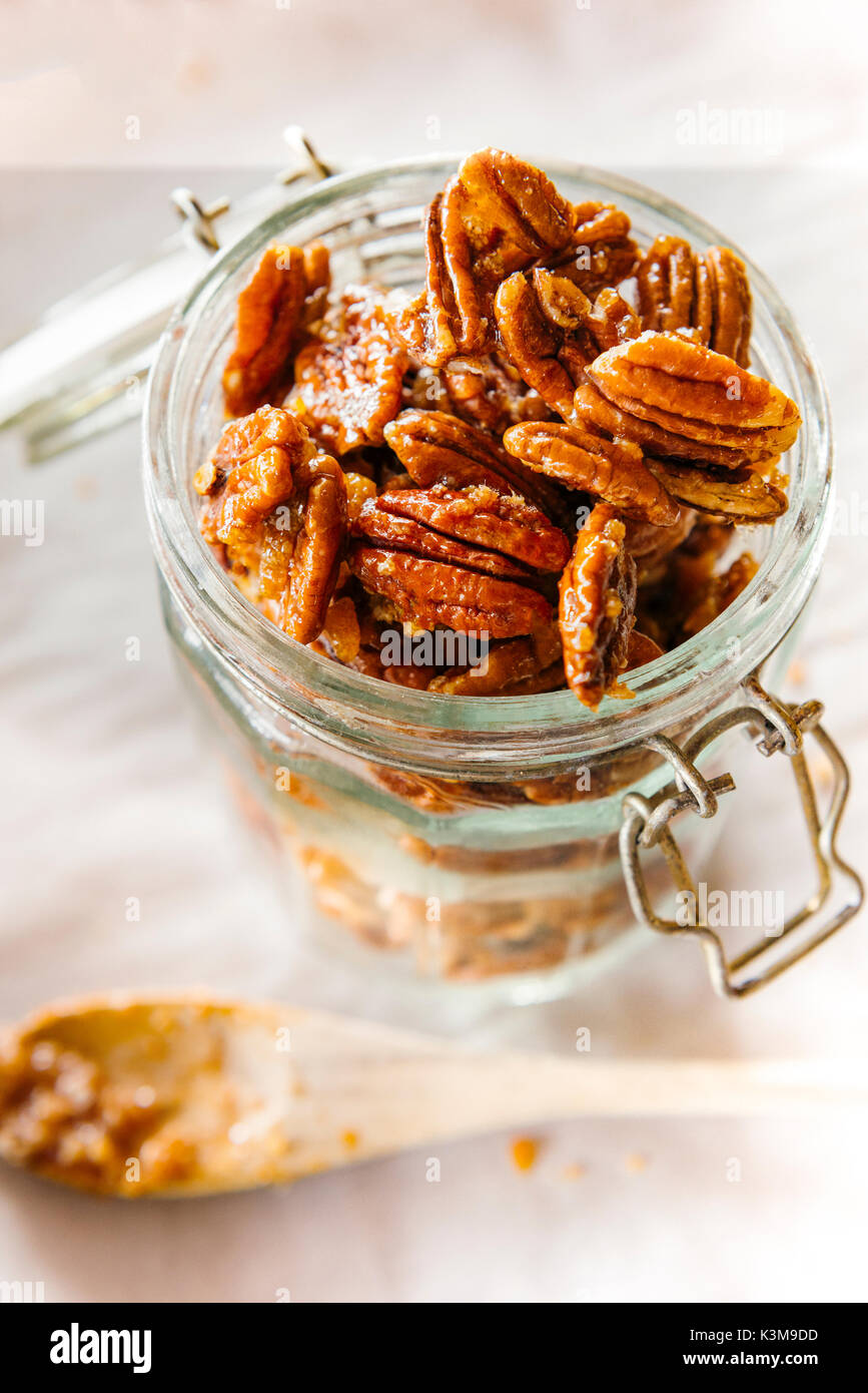 candid pecans - Stock Image