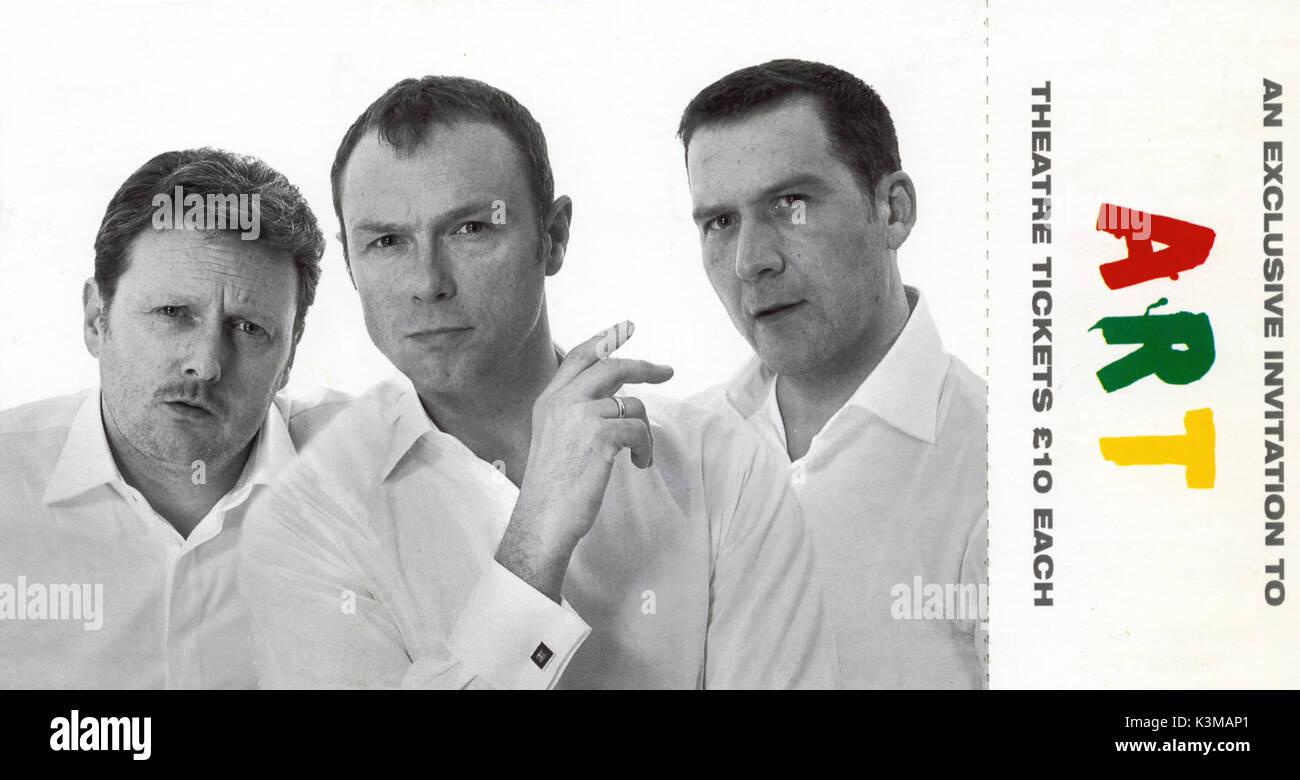ART THEATRE PROGRAMME WYNDHAM'S THEATRE, LONDON January 23 - April 15, 2001  [L-R] CHARLES LAWSON, GARY KEMP, JAMES GADDAS - Stock Image