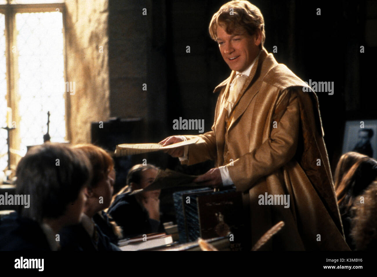 HARRY POTTER AND THE CHAMBER OF SECRETS [BR / US / GER 2002] [L-R] DANIEL RADCLIFFE as Harry Potter, RUPERT GRINT as Ron Weasley, KENNETH BRANAGH as Professor Gilderoy Lockhart     Date: 2002 - Stock Image