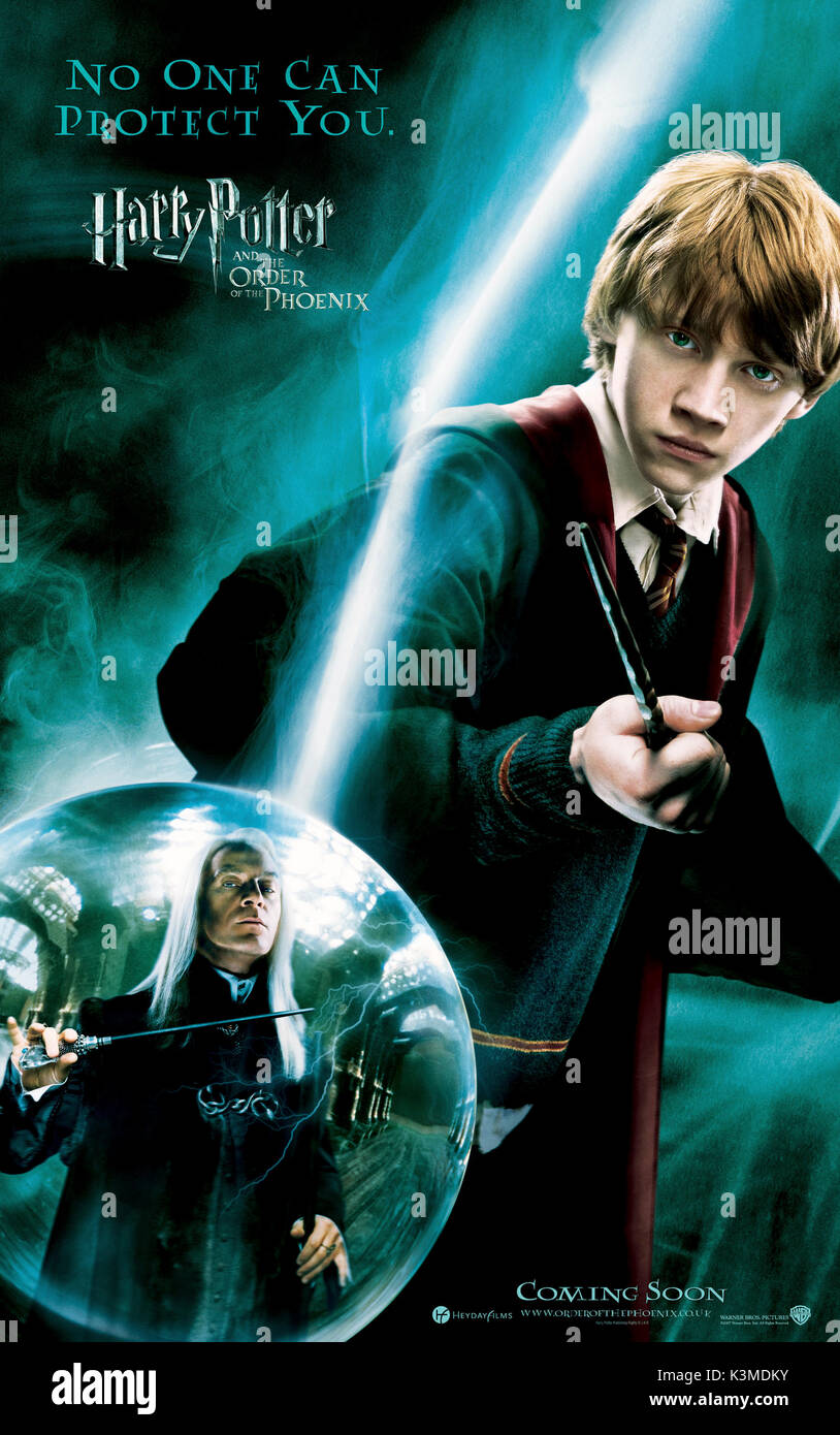 HARRY POTTER AND THE ORDER OF THE PHOENIX [US / BR 2007] JASON ISAACS as Lucius Malfoy, RUPERT GRINT as Ron Weasley     Date: 2007 - Stock Image
